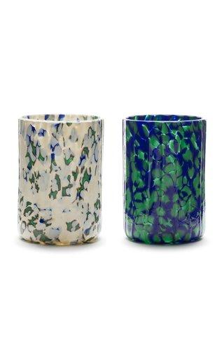 Macchia Su Macchia Green Set of 2 Glasses
