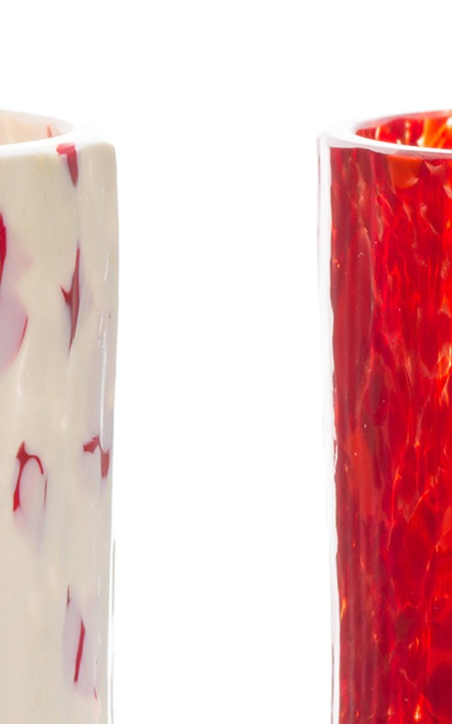 Macchia Su Macchia Red and White Set of 2 Glasses
