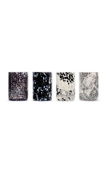 Macchia Su Macchia Black and White Set of 4 Glasses