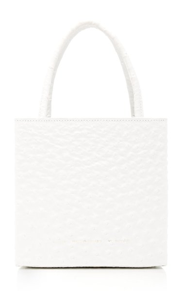 Textured-Leather Tote