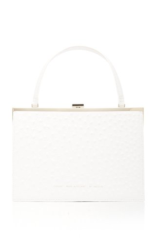 Chylak Textured-leather Top Handle Bag In White