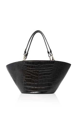 Chylak Croc-effect Leather Tote In Black