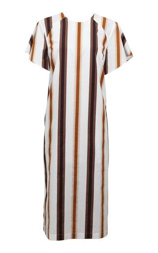 Adalyn Cotton A-Line Midi Dress