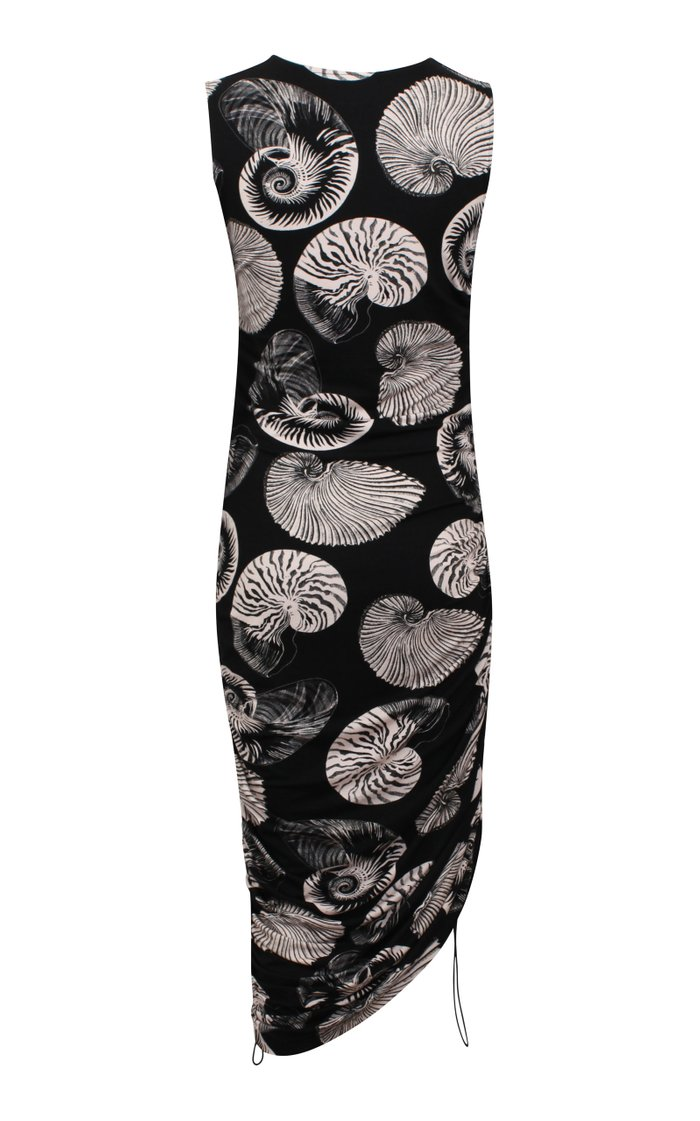 Jordana Ruched Hip Shell Dress