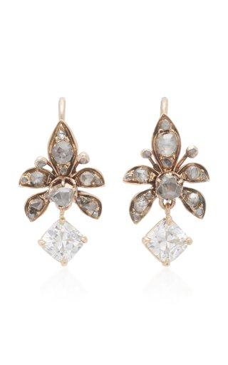 18K Rose Gold And Diamond Earrings