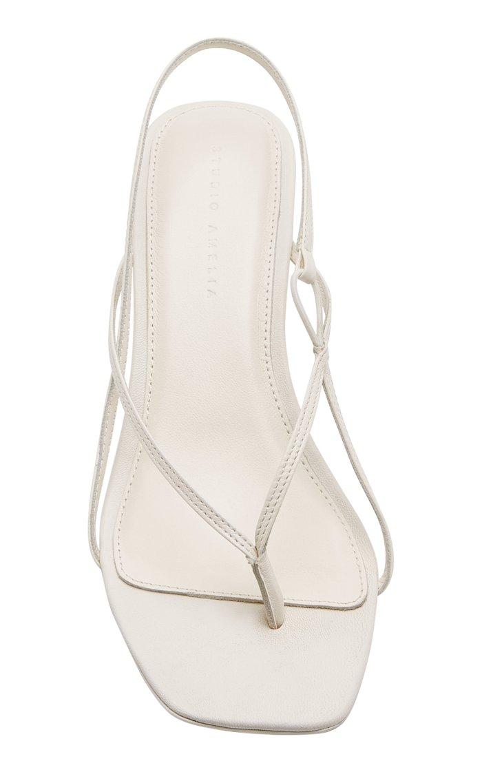 Leather Slingback Sandals