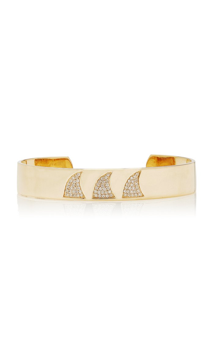 Ondas 14K Gold And Diamond Cuff