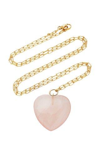 18K Gold And Quartz Necklace