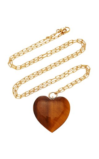 18K Gold And Tiger's Eye Necklace