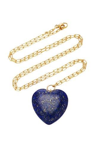 18K Gold And Lapis Lazuli Necklace