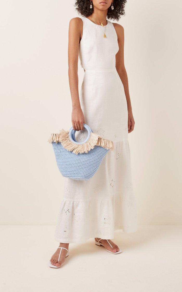 Sun Bag Mini Raffia-Cotton Tote