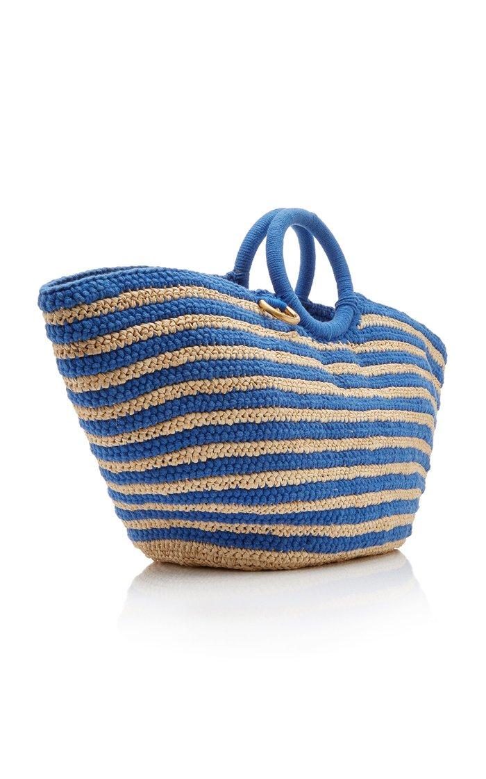 Sun Bag Raffia-Cotton Tote