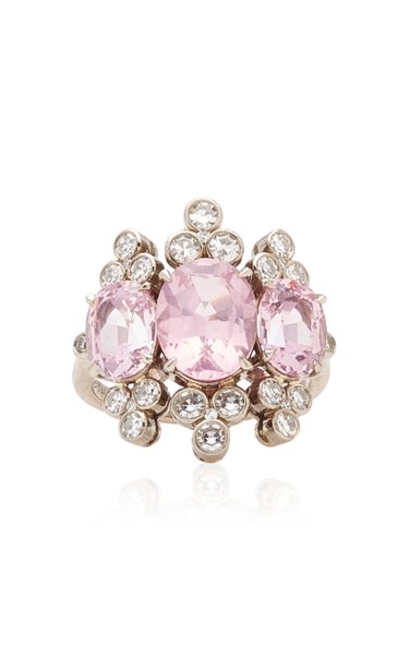 One of a Kind 3 O'Clock Pink Spinel Baba Ring