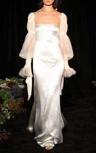 Ruby Silk Wool Gown