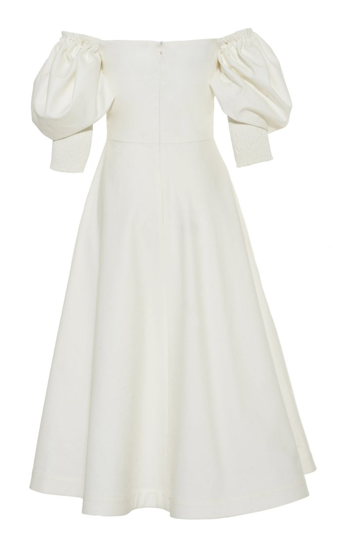 Bardot Shoulder Dress With Bow