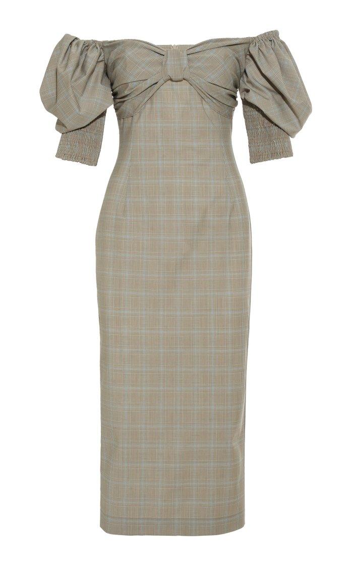 Bardot Shoulder Pencil Dress