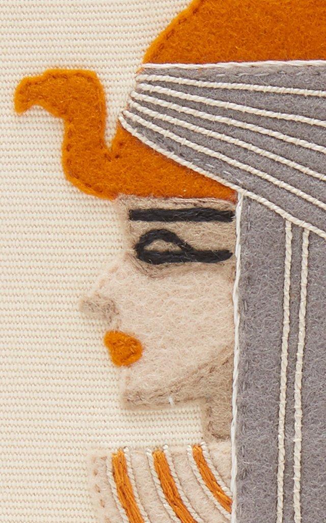 Cleopatra Cotton-Blend Clutch