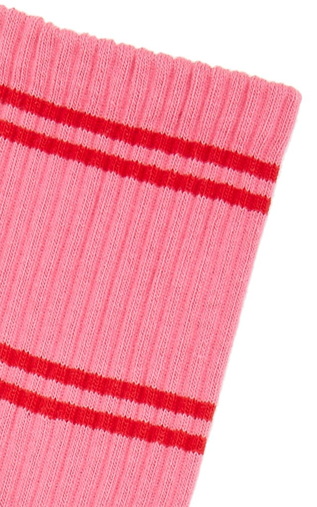 Face Striped Ribbed Cotton-Blend Socks