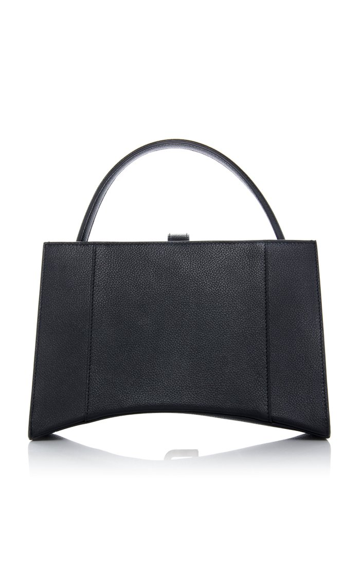 Hourglass XS Textured-Leather Tote Bag