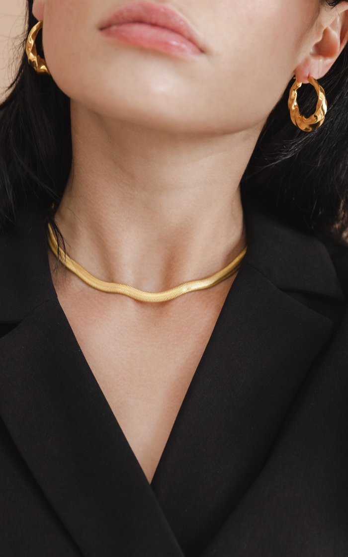 Gold Serpent Chain Necklace
