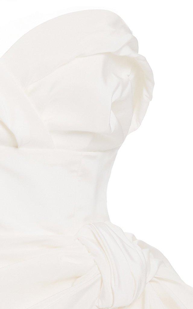 Exclusive Gathered Silk-Poplin Mini Dress