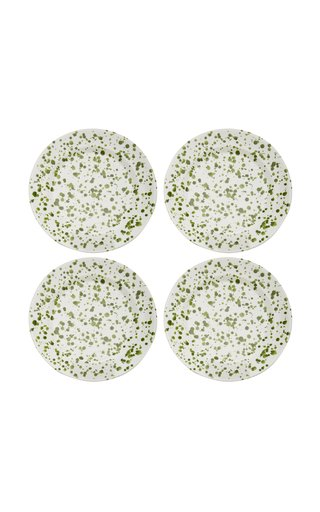 Set-Of-Four Painted Ceramic Dessert Plates