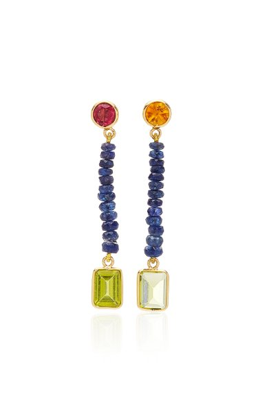 Blue Hour 18K Gold And Multi-Stone Earrings