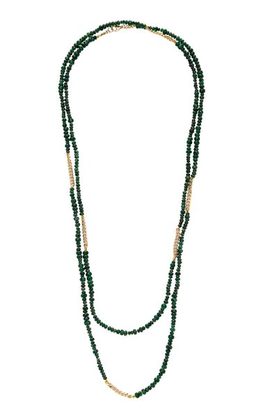 Anton 18K Gold And Emerald Necklace
