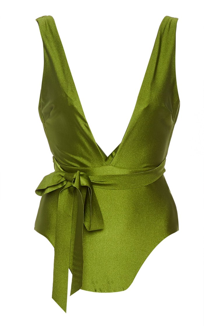 Empire Tie-Detailed One-Piece Swimsuit