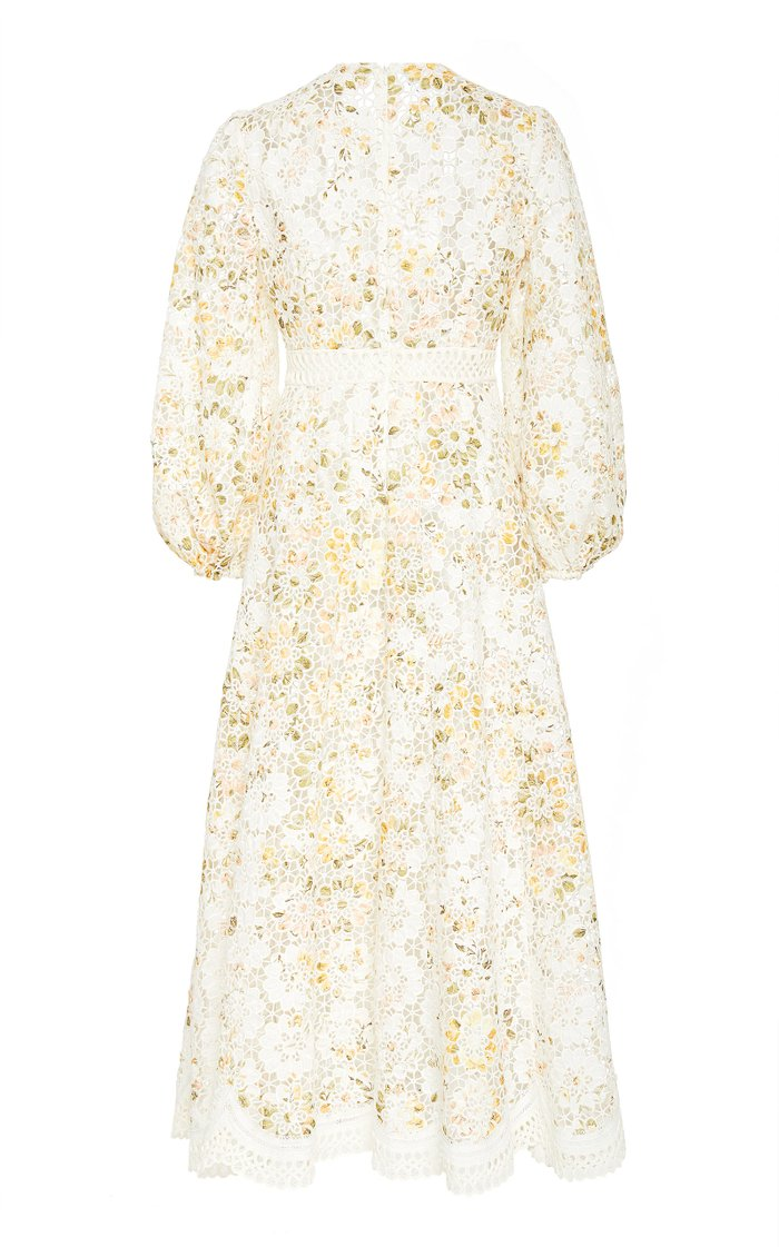 Amelie Embroidered Floral Linen Maxi Dress