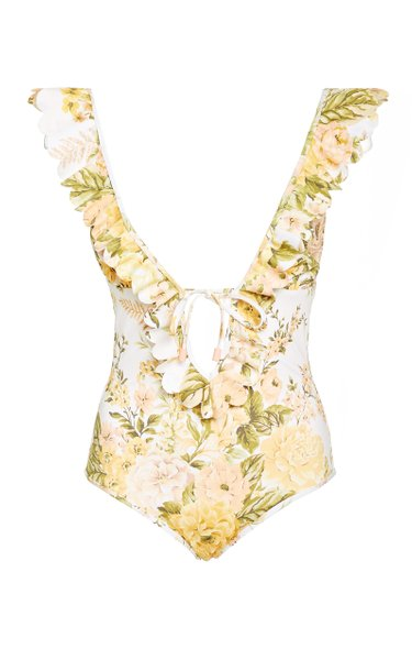 Amelie Ruffled Floral One-Piece Swimsuit