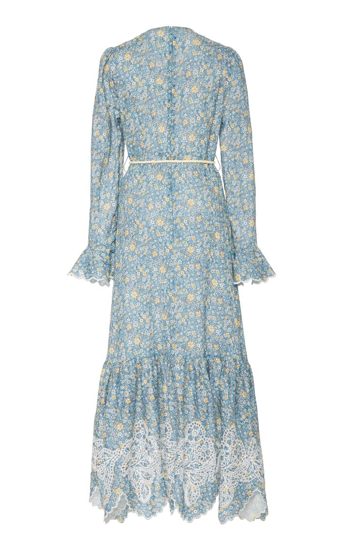 Carnaby Belted Floral Linen Maxi Dress