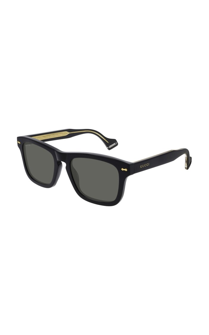 Black Acetate Square-Frame Sunglasses