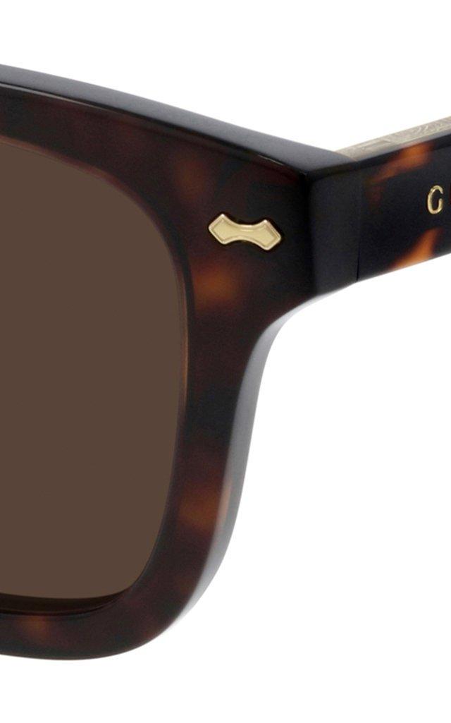 Havana Square-Frame Acetate Sunglasses
