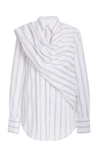 Bradey Striped Jersey Wrap Shirt