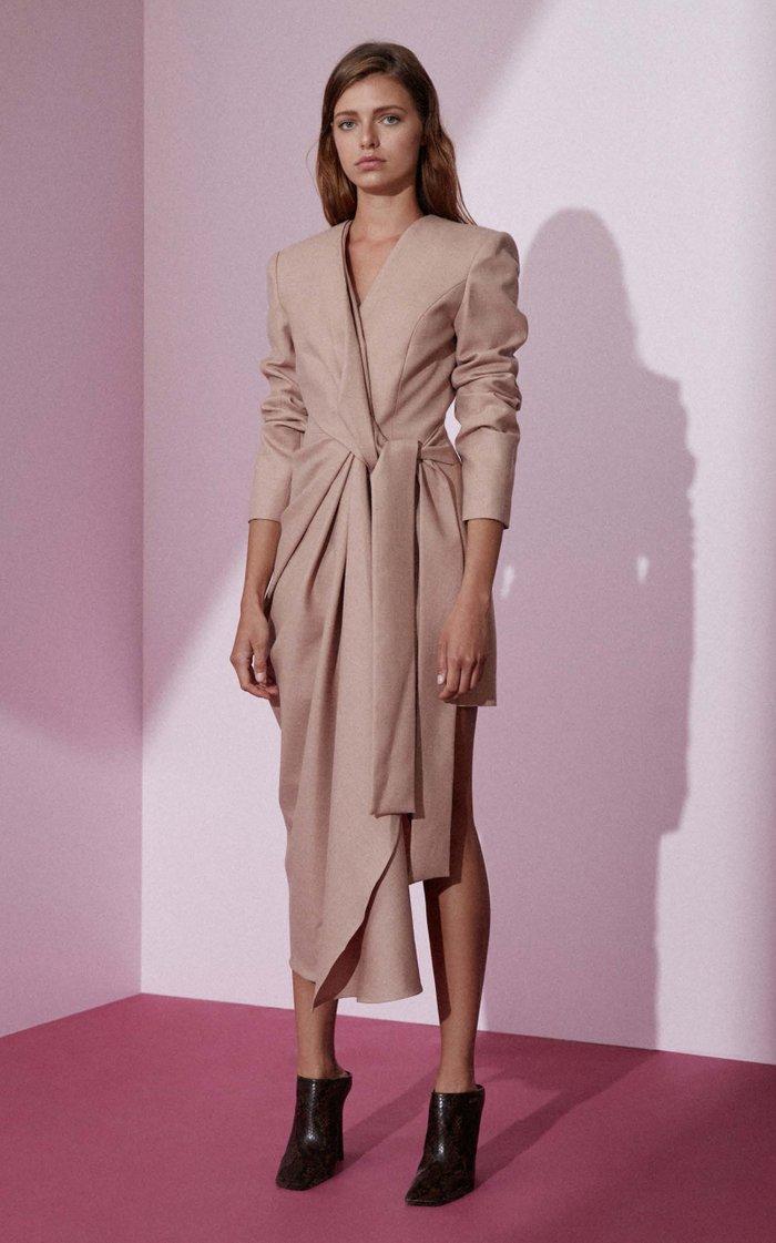 Dresden Gathered Cotton Blazer Dress