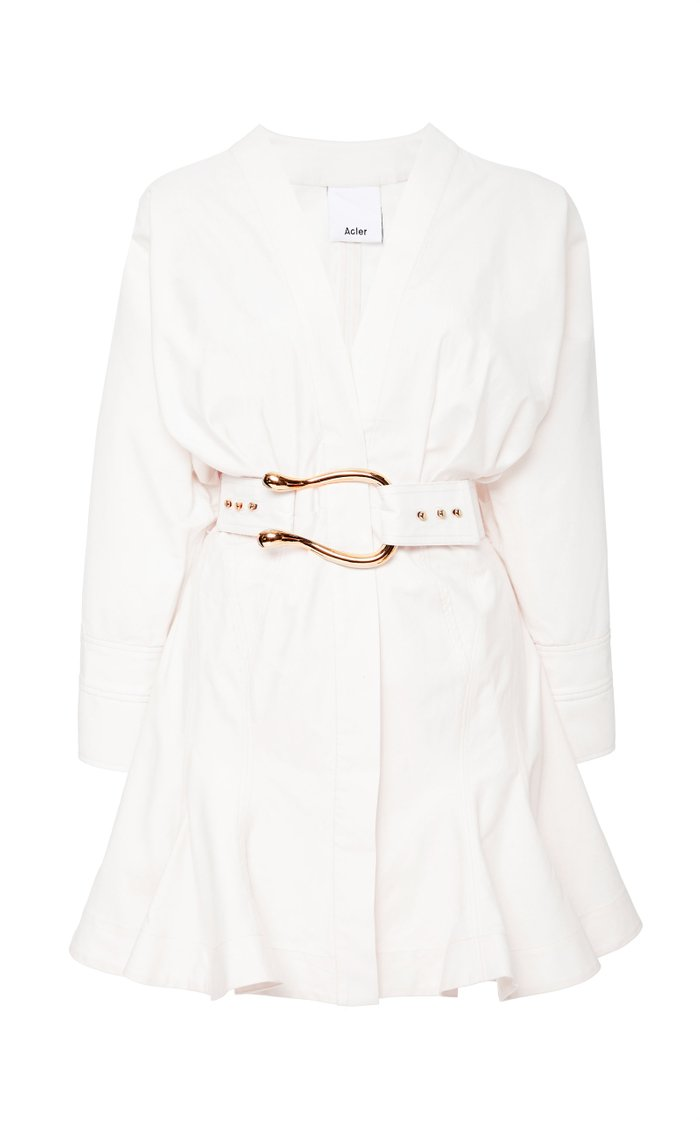 Bastor Belted Cotton Mini Dress