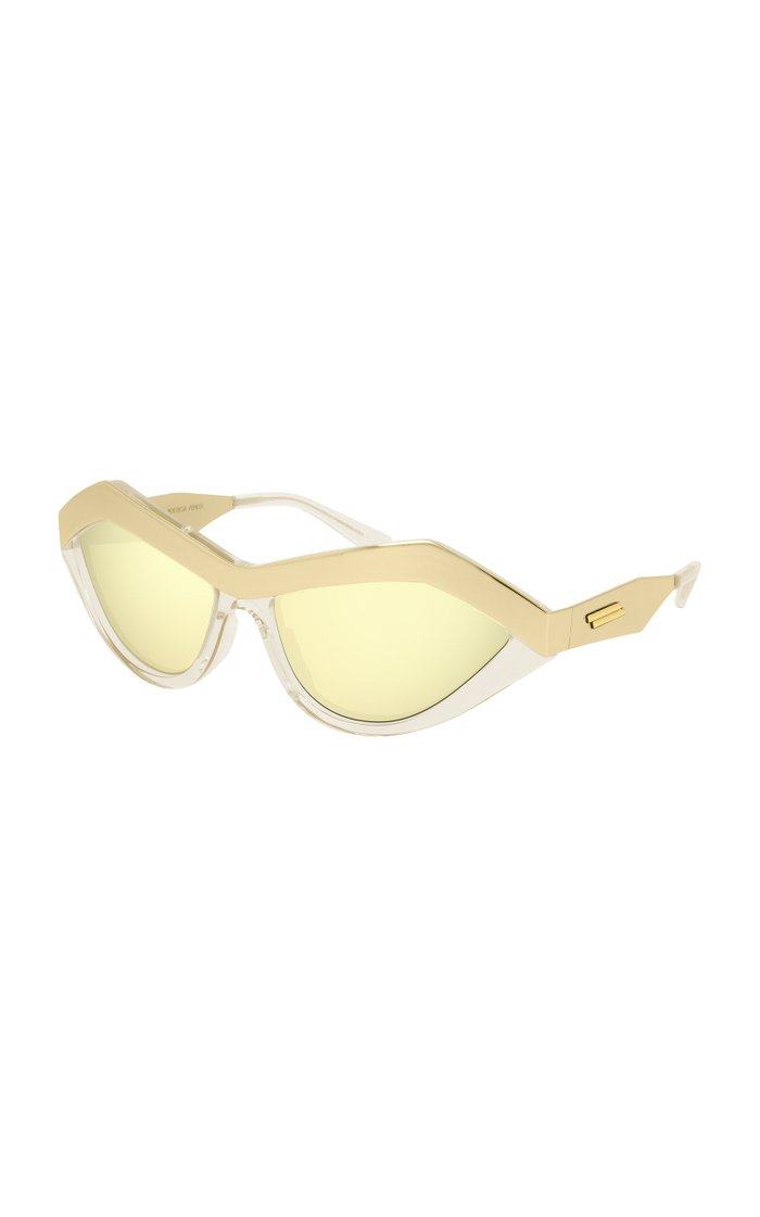 Runway Cat-Eye Metal Sunglasses