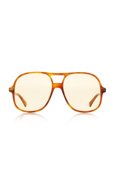 Oversized Acetate Aviator Sunglasses