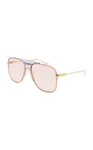 Oversized Aviator-Style Nylon Sunglasses