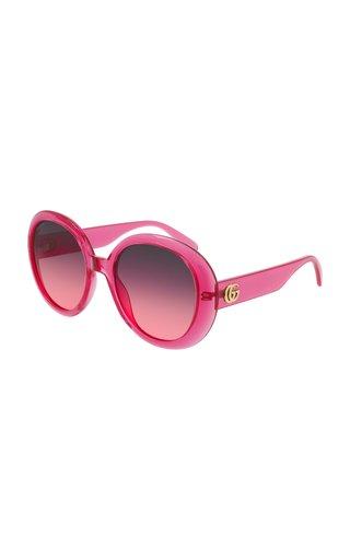 Oversized Round-Frame Sunglasses