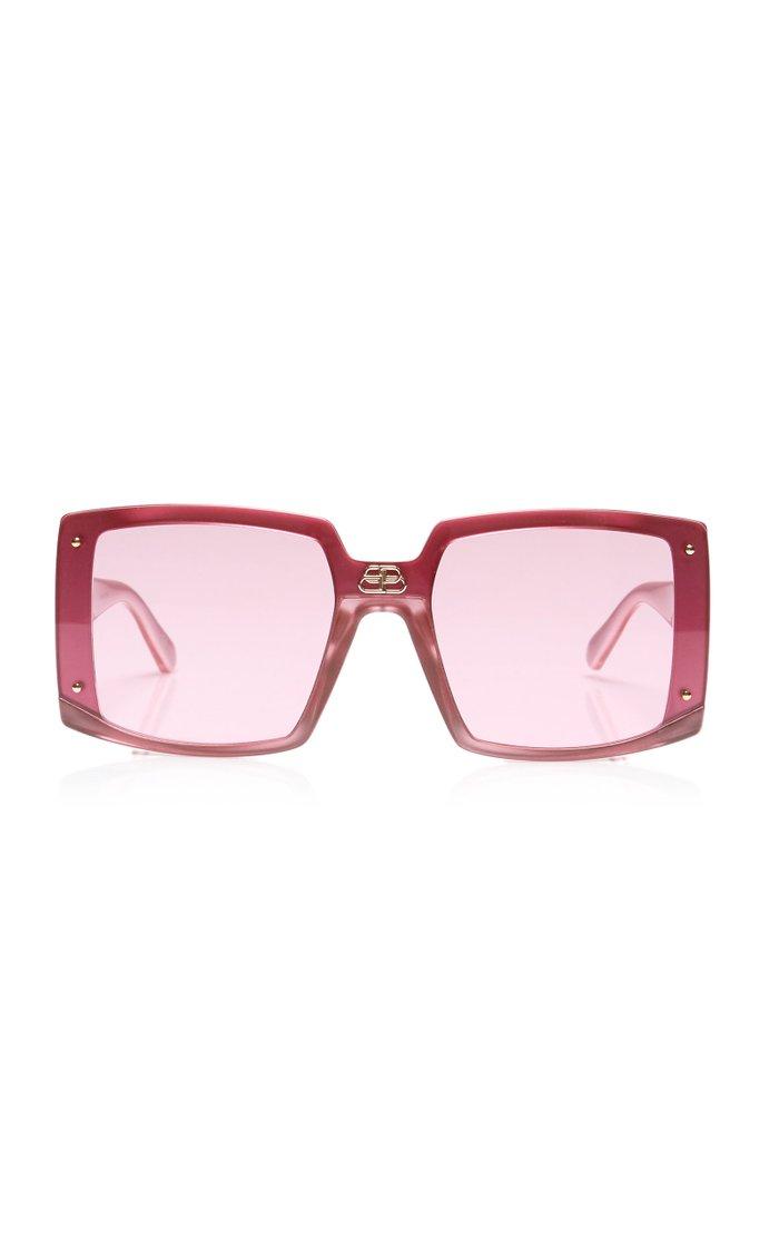 Shield Oversized Square-Frame Sunglasses