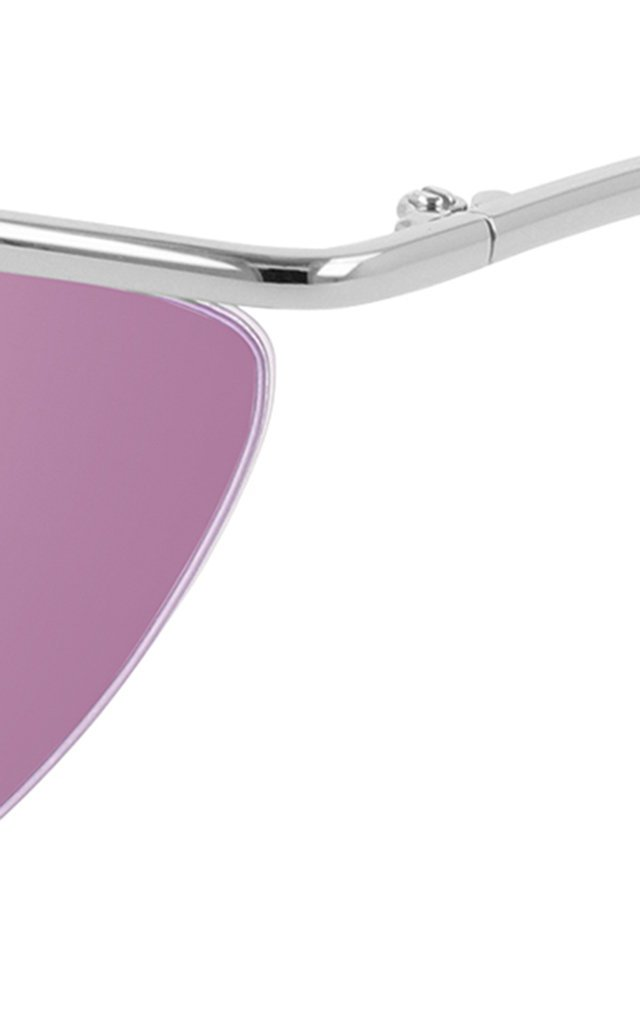 Curve Cat-Eye Metal Sunglasses