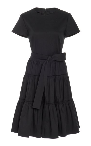 Ruffle Tie Shirt Dress