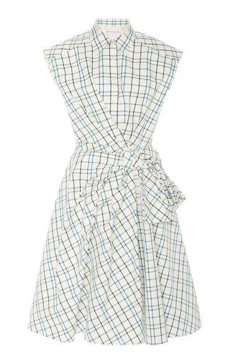 Cap Sleeve Bow Shirt Dress