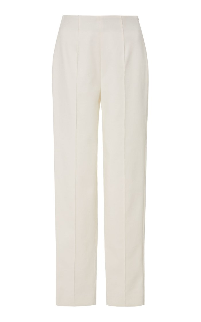 Luxe Stretch Cotton Skinny Pintuck  Pant
