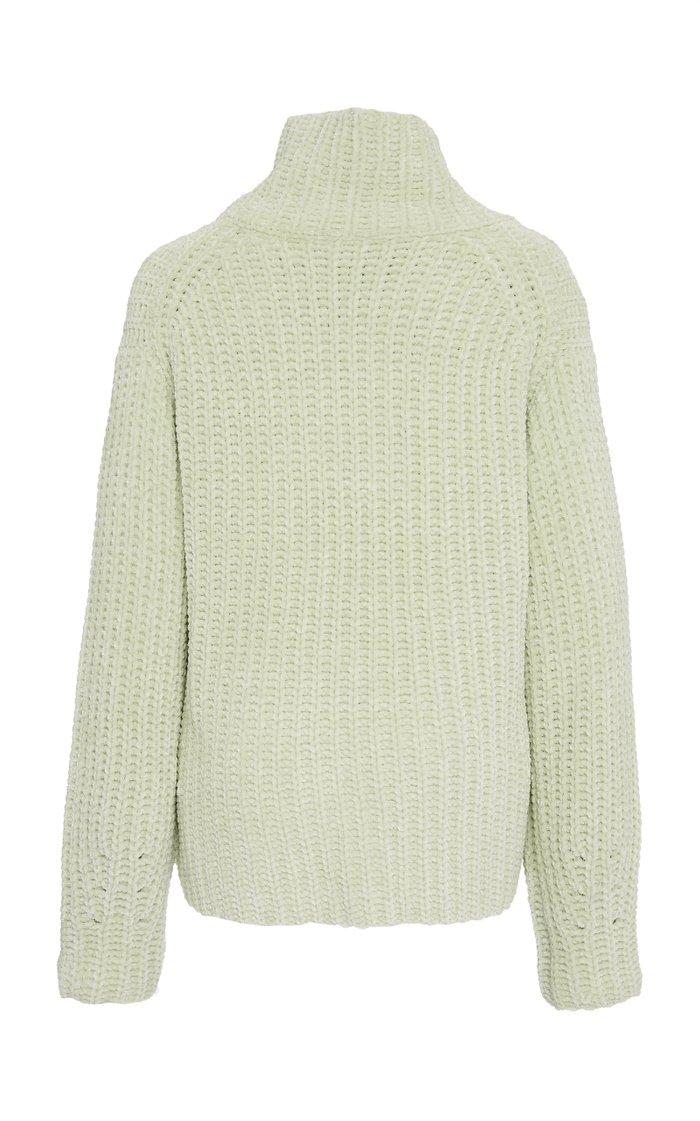 Velvet Cord  Turtleneck Sweater