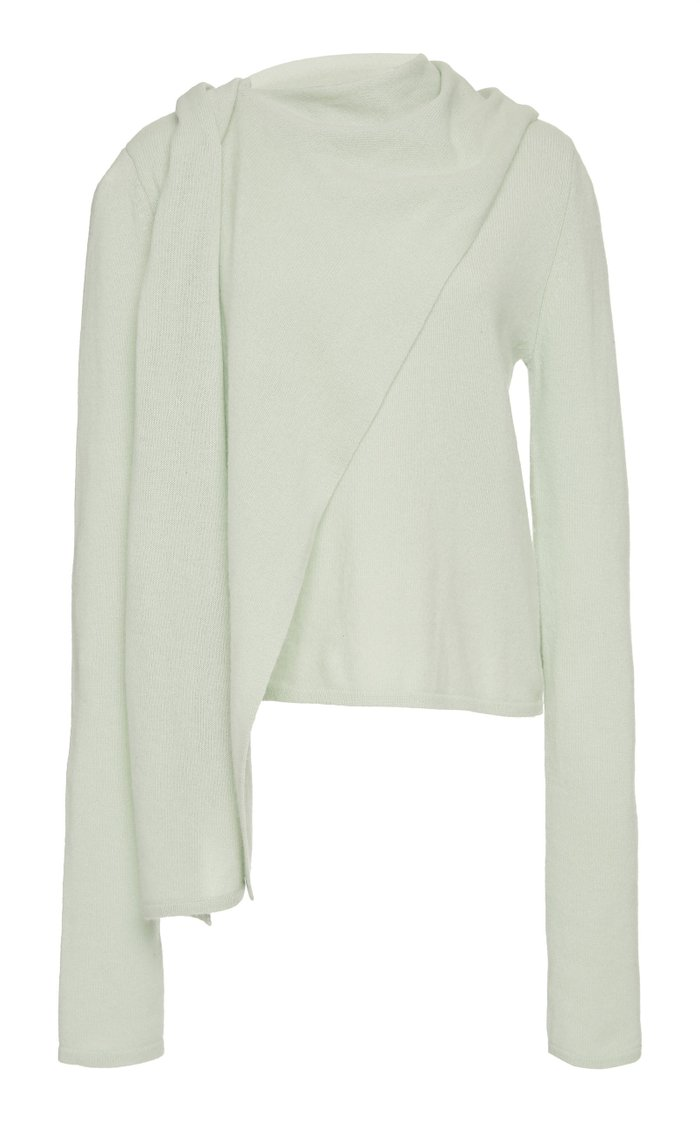 Draped Cashmere Sweater