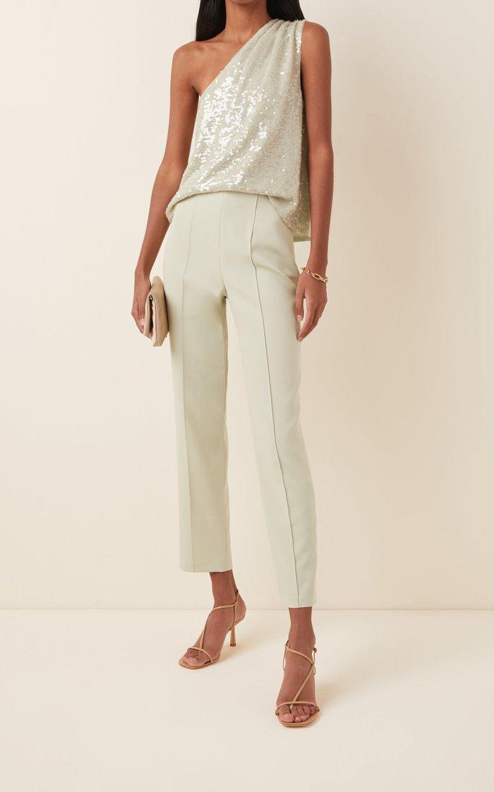 Crepe Slim-Leg Pants