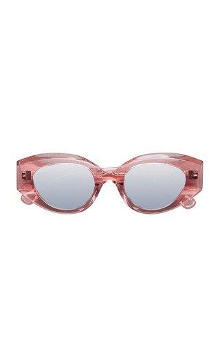 Petra Round-Frame Sunglasses
